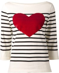 Breton sequin heart sweater medium 136457