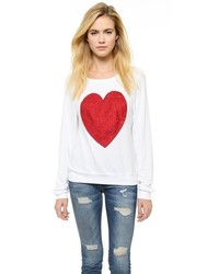 Wildfox couture wildfox sparkle heart baggy beach pullover medium 132639