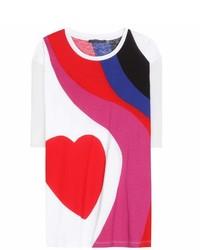 Alexander McQueen Printed Cotton T Shirt