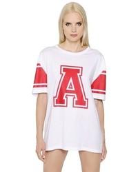 Alexandre Vauthier A Print Oversize Cotton Jersey T Shirt
