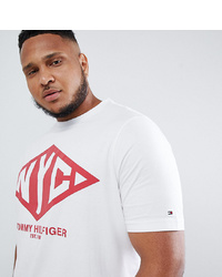 Tommy Hilfiger Big Tall Nyc T Shirt In White