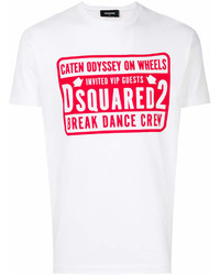 DSQUARED2 Break Dance Crew Print T Shirt