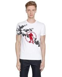 Bikkembergs Cherry Blossom Cotton Jersey T Shirt