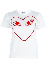 Comme des Garcons Comme Des Garons Play Red Play T Shirt