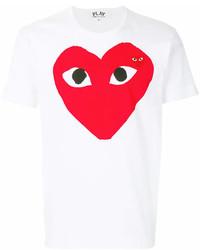 Comme des Garcons Comme Des Garons Play Heart Print Logo T Shirt