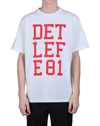 Raf Simons Detlef E81 Printed Cotton Jersey T Shirt