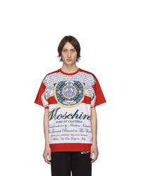 Moschino Red Budweiser Edition Logo T Shirt