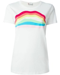 RED Valentino Rainbow Lip Print T Shirt