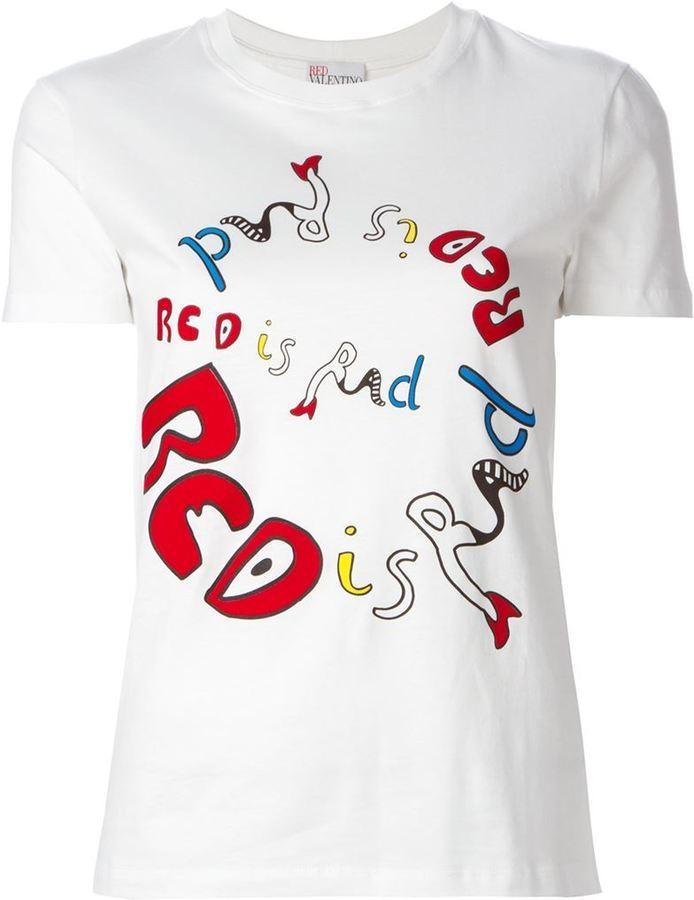 Red Valentino printed T-shirt Genuine Cheap Online KRUvGLnSLl