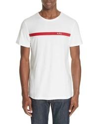 A.P.C. Stripe Logo T Shirt