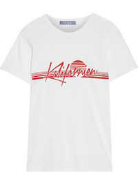 Koza Kalifornien Printed Cotton Jersey T Shirt White
