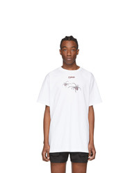 Off-White White And Red Arachno Arrows Over T Shirt