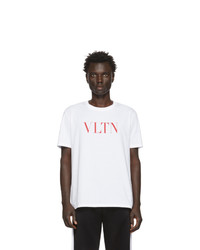 Valentino White And Red Vltn T Shirt
