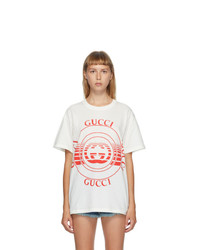 Gucci White Interlocking G T Shirt