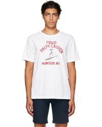 Polo Ralph Lauren White Logo Graphic T Shirt