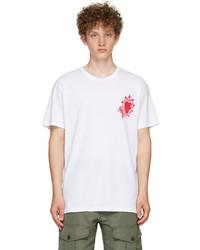 Alexander McQueen White Painted Heart T Shirt