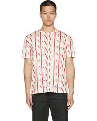 Valentino White Red Vltn Times T Shirt