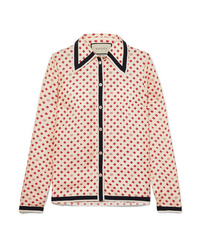 Gucci Med Printed Silk Twill Blouse