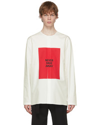 Jil Sander White Red Heavy Poplin Shirt
