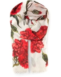 Dolce & Gabbana Carnations Print Scarf
