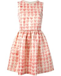 Red valentino heart print dress medium 136257