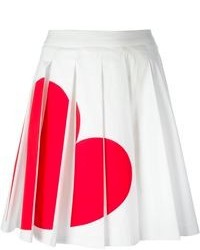 Love Moschino Heart Print Pleated Skirt