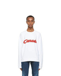 DSQUARED2 White Canada Sweatshirt