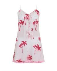 JULIET DUNN Embellished Palm Print Dress