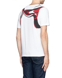 Alexander McQueen Brush Paint Harness Print T Shirt