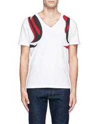 Alexander McQueen Brush Paint Harness Print T Shirt
