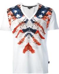 Just cavalli printed v neck t shirt medium 270703