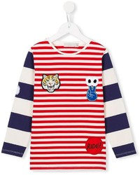 Stella McCartney Kids Striped Patch Applique T Shirt