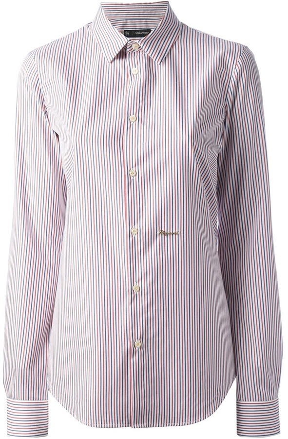 Dsquared 2 striped shirt where to buy how to wear for Red and white button down shirt