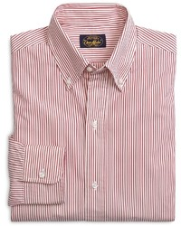 Brooks Brothers Own Make Red Stripe Sport Shirt