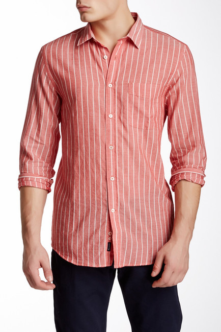 White and red vertical striped dress shirt fa onnable for Mens red and white striped dress shirt