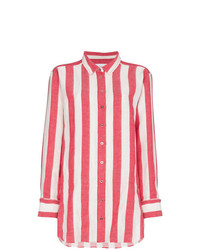 Marquesalmeida linen stripe shirt medium 7870693
