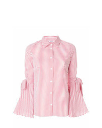 P.A.R.O.S.H. Sleeve Tied Striped Shirt