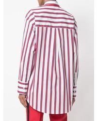 MSGM Striped Tie Neck Blouse