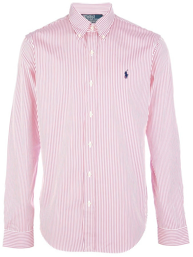 Polo ralph lauren striped shirt where to buy how to wear for Red white striped polo shirt