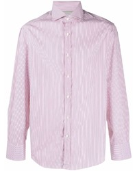 Brunello Cucinelli Stripe Print Cotton Shirt