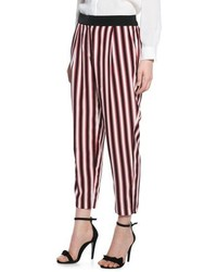 Mango Outlet Striped Baggy Trousers
