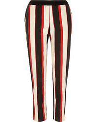 Red stripe cigarette pants medium 149723