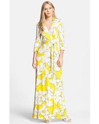 Diane Von Furstenberg Aail Fl Print Silk Wrap Dress