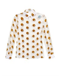 Fendi Circle Print Silk Shirt