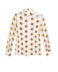 Fendi Circle Print Silk Shirt