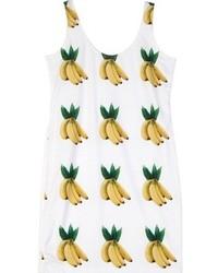 Chicnova banana print round neck sleeveless bodycon dress medium 75278