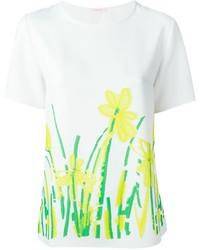 P.A.R.O.S.H. Floral Print T Shirt