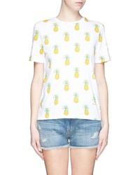 Tory Burch Cathy Pineapple Print T Shirt