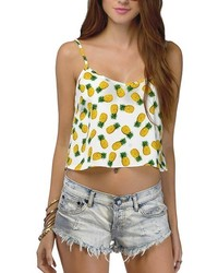 ChicNova Pineapple Print Crop Top