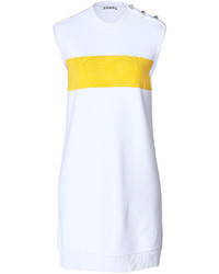 Colorblock dress in whiteyellow medium 224777